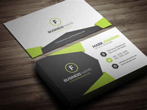 geometric style corporate business card template