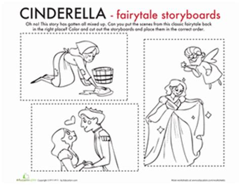color the cinderella moment worksheet education 177 | color cinderella moment comprehension fairy