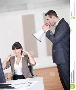 Angry Boss Screaming At Employee Royalty Free Stock Photos ...