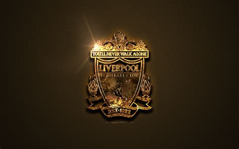 Download wallpapers Liverpool FC, golden logo, English ...