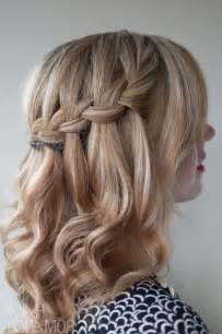 Short Curly Hair Waterfall Braid Hairstyles