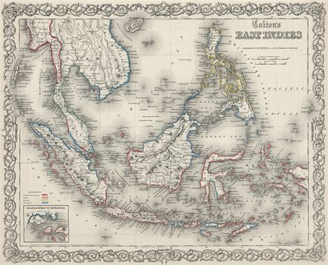 vintage map  indonesia   philippines drawing