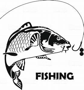 Carp Fishing Vector Illustration Stock Vector Art & More ...