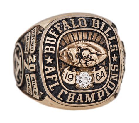 lot detail  buffalo bills afl championship ring