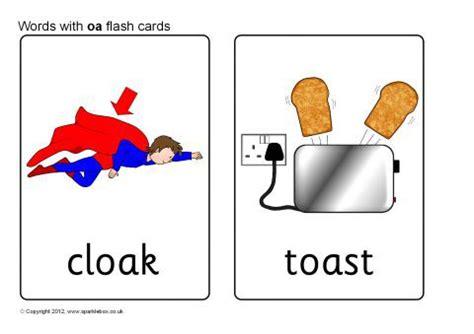 words  oa flash cards sb sparklebox