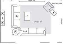 furniture placement open floor plan   shaped couches