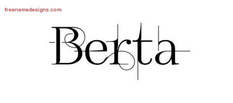 berta template decorated name tattoo designs berta free free name designs