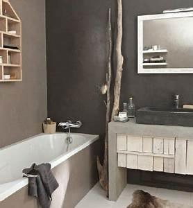 Petite Salle De Bain 3m2 : am nagement petite salle de bain ambiance nature ~ Dailycaller-alerts.com Idées de Décoration
