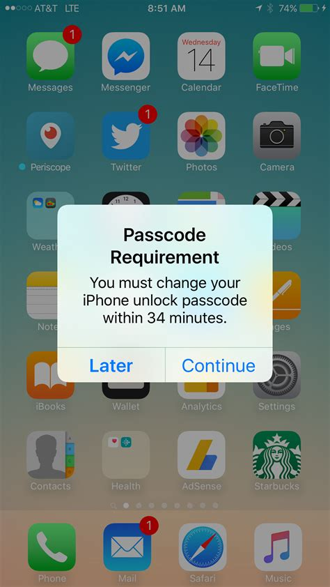 passcode requirement iphone iphone passcode requirement asking people to change their Passc