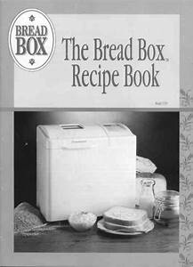 Toastmaster Bread Maker Bread Box User U0026 39 S Guide