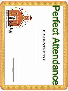 Perfect Attendance Certificate Template Best Photos Of Printable Attendance Award Certificate Templates Attendance Award Certificate