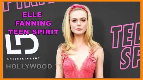 elle fanning rocks the pink carpet for teen spirit