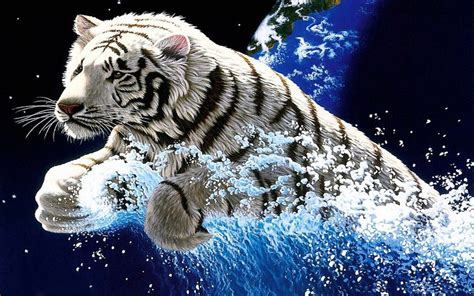 white tiger widescreen  hd wallpapers
