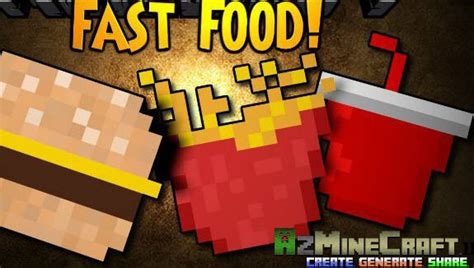 cuisine mod鑞e fast food mod 1 11 2 1 10 2 1 7 10 fries burger king mcwrap azminecraft info