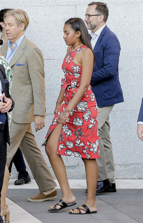 ( 11 Photos) Sasha Obama  La Fille De Barack Obama A Du