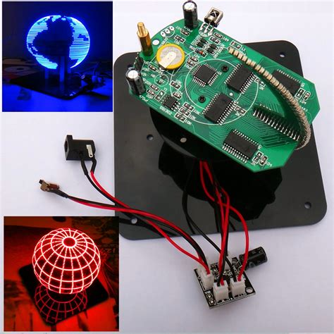 2016 sale spherical rotary led kit 56 l rotary clock parts diy electronic welding