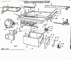 Mastercraft Table Saw Spare Parts