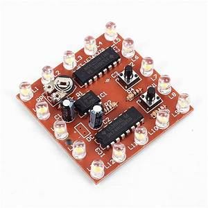 Diy Kits Ne555 74hc595 16 Channel Light Water Flowing Lights Led Module 4 5