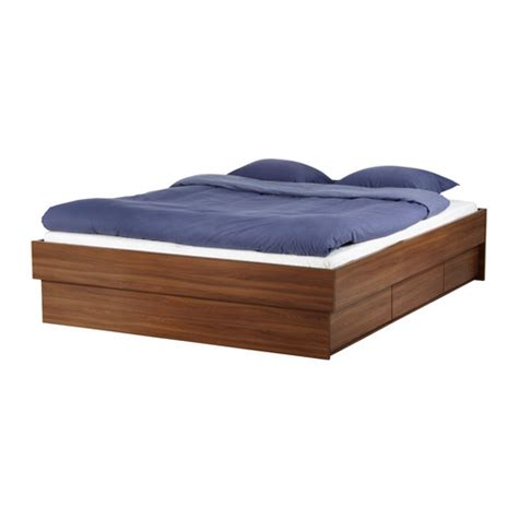 Platform Bed With Storage Ikea by Ikea Oppdal Storage Bed Frame With Drawers Beds Bedroom