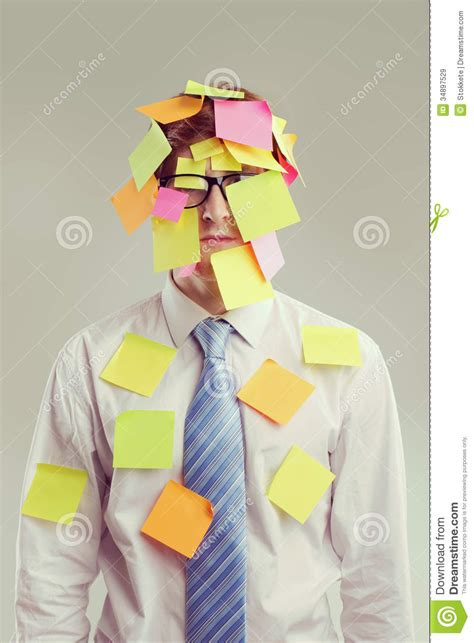 post it bureau post it royalty free stock images image 34897529