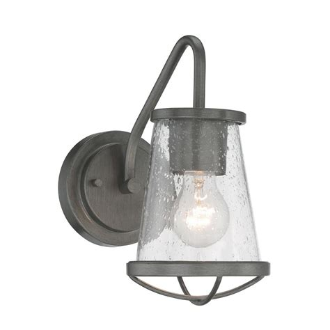 designers darby 1 light weathered iron wall