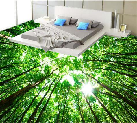green forest bathroom  wallpaper floor custom photo
