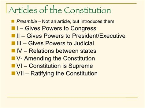 Basics Of The Constitution