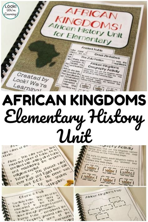 printable african empires unit study  kids