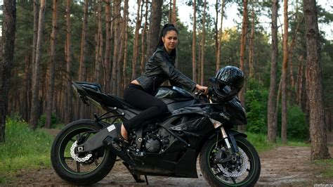 Girl On Motorcycle Wallpaper 21854