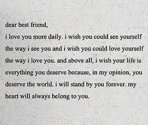 Deep Inspirational Quotes Tumblr - Dear Best Friend Quotes ...