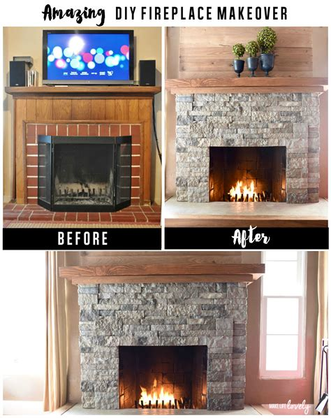 made rock for fireplaces airstone fireplace makeover from to