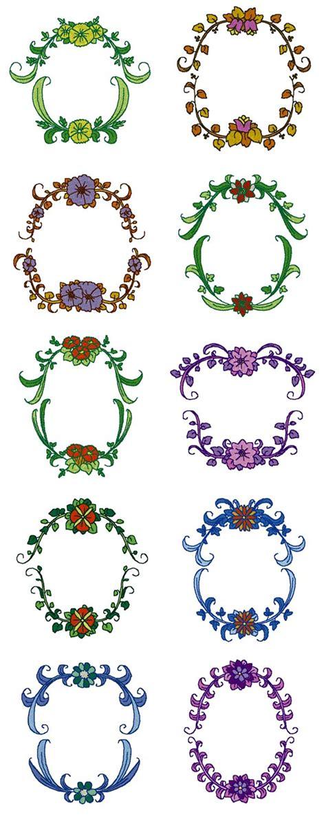 machine embroidery designs monogram frames set