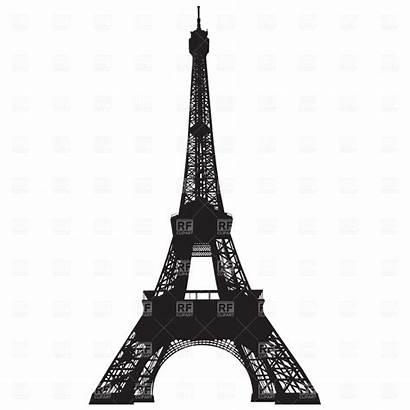 Paris Eiffel Tower Clip Clipart Vector Night