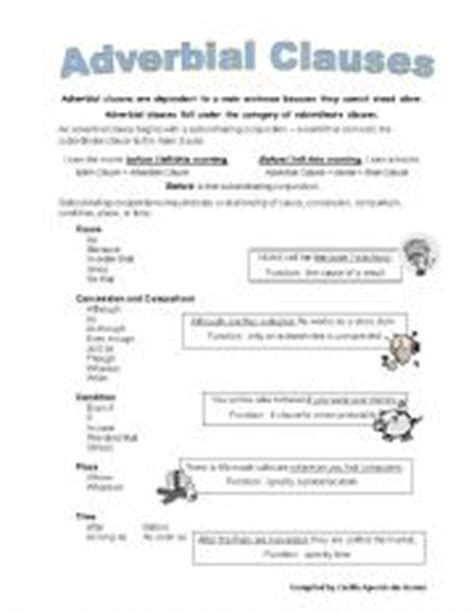 English Teaching Worksheets Adverbial Clauses