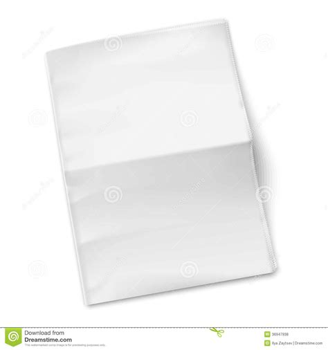 blank newspaper template  white background royalty