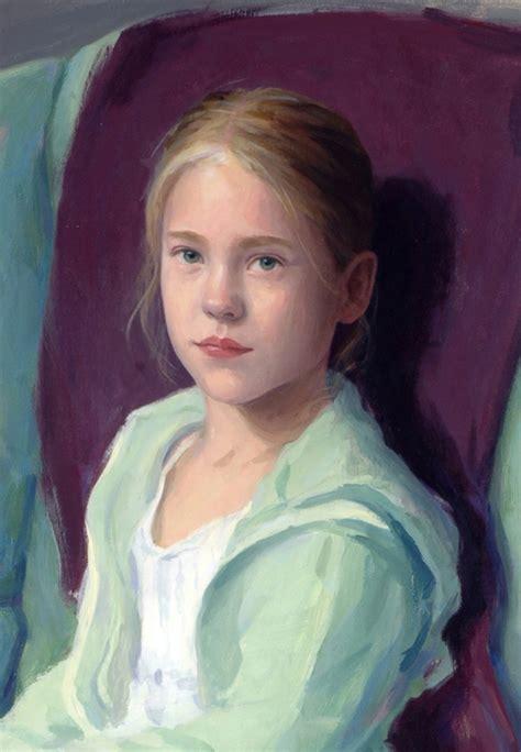 oil painting portrait  girl