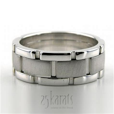 rolex style wedding band available in 14k gold 18k gold palladium and platinum style number