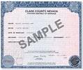 Order Reno and Las Vegas Wedding Certificates Online!