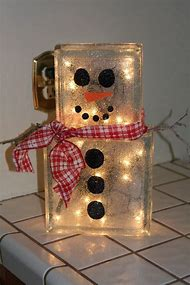 glass block craft ideas with christmas lights
