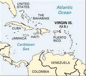 Virgin Islands and United States Map