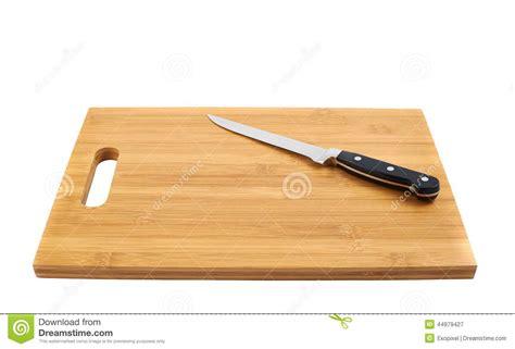 planche pour cuisine couteau de cuisine en acier sur la planche à découper