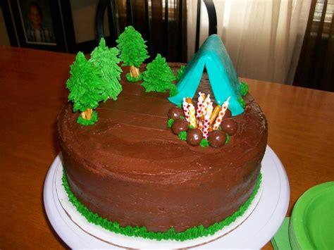 ideas  camping theme cakes  pinterest