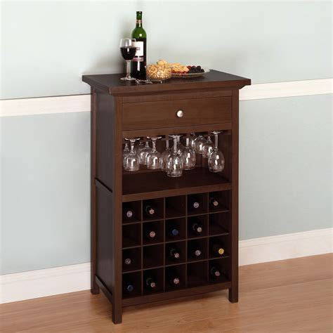 wine rack storage cabinet winsome wood 94441 cabinet wine rack atg stores