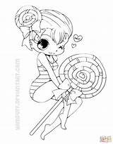 Coloring Chibi Pages Lollipop Printable Drawing Colorings Styles Paper sketch template