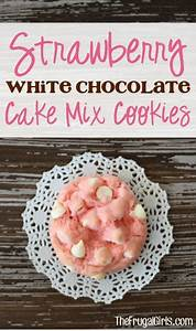Strawberry White Chocolate Cake Mix Cookies