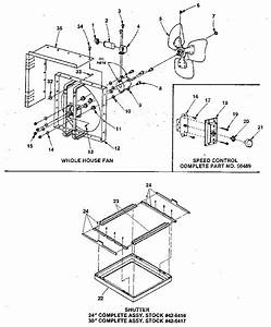 Kenmore Whole House Fan  U0026 Shutter System Parts