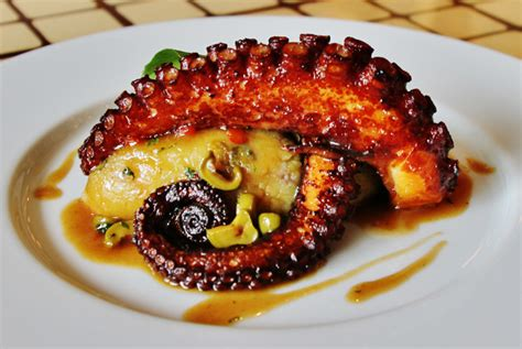 peruvian cuisine pulpo a la parrilla from la 73 paradero gourmet food and