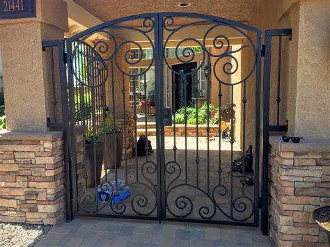 gate with door orange county iron door project custom iron gate details