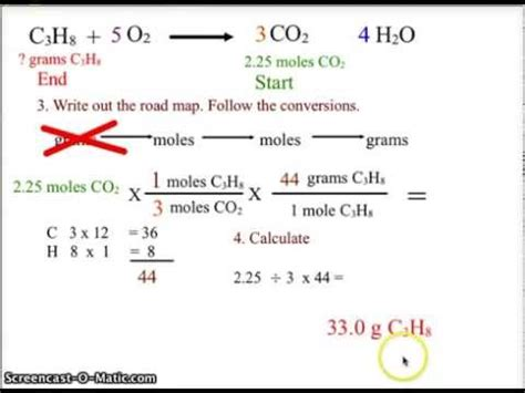 Ch 12 Chemistry Stoichiometry Moles To Grams Youtube