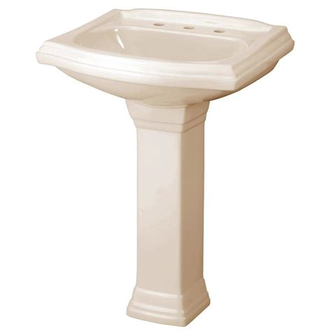gerber allerton pedestal combo bathroom sink in biscuit